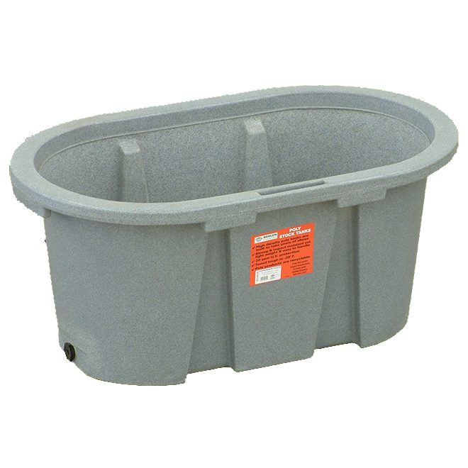 "Stock Tank - Poly - 65 Gallon Capacity - 24"" x 24"" x 36"""