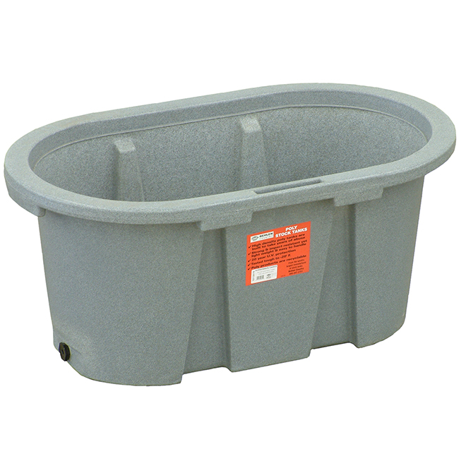 "Stock Tank - Poly - 100 Gallon Capacity - 24"" x 24"" x 48"""