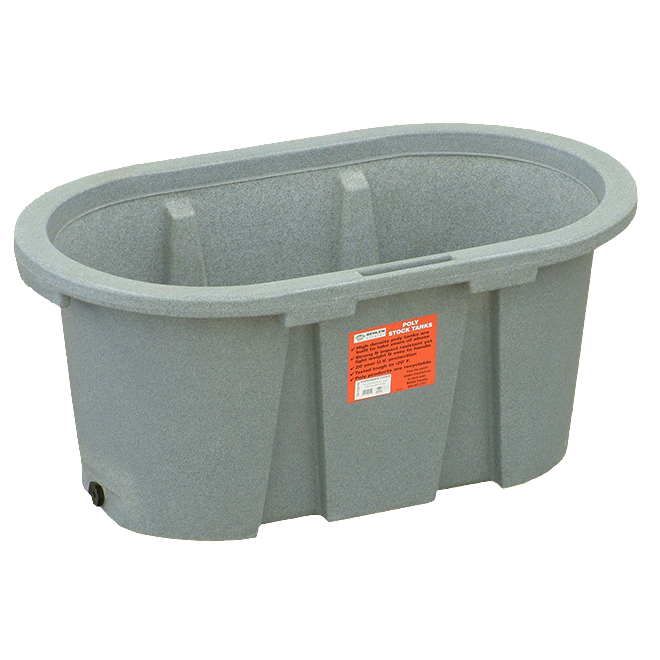"Stock Tank - Poly - 150 Gallon Capacity - 24"" x 24"" x 72"""