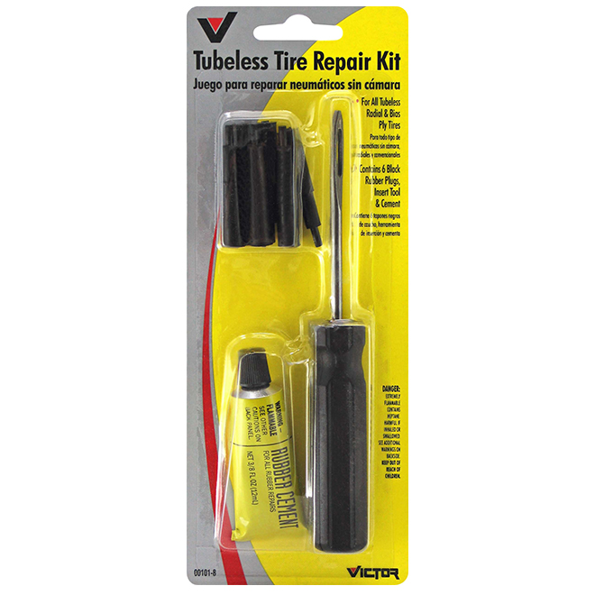 Tubeless tire repair kit - 8-Pack