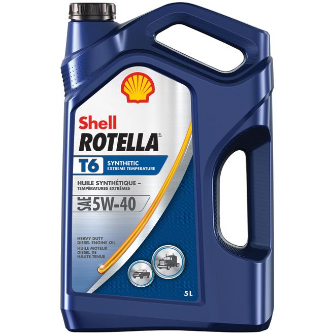 Huile à moteur synthétique, intensif, Rotella T6, 5W40, 5 L