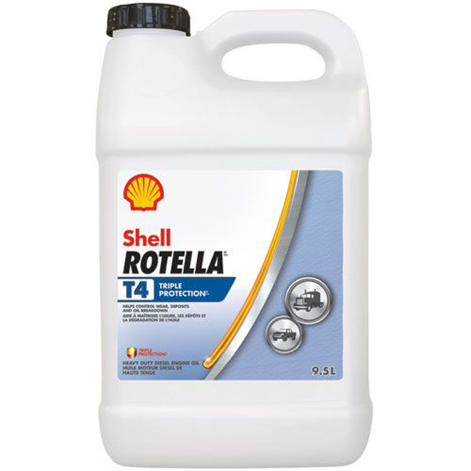 Heavy-Duty Diesel Engine Oil - Rotella T4 - 15W40 - 9.5 L