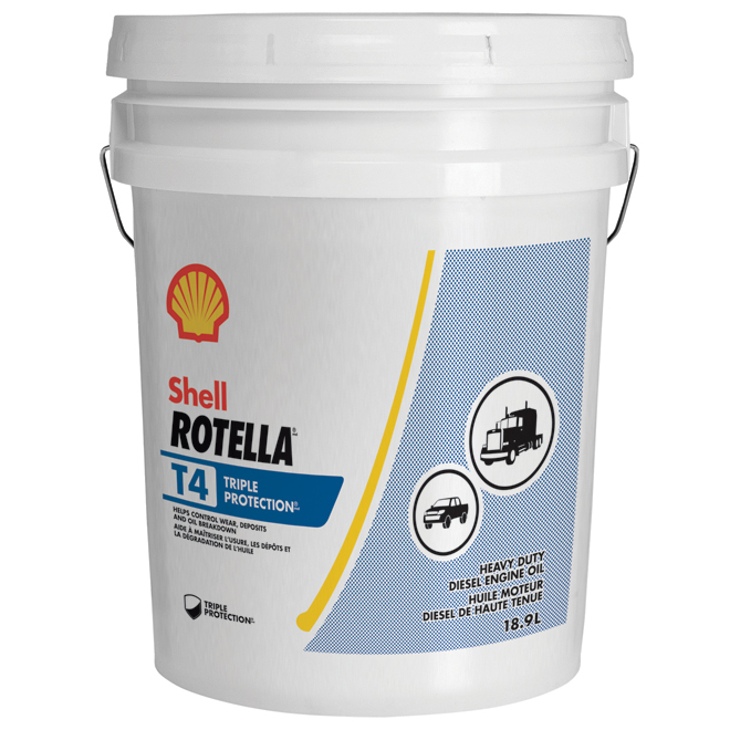 Heavy-Duty Diesel Engine Oil - Rotella T4 - 15W40 - 18.9 L