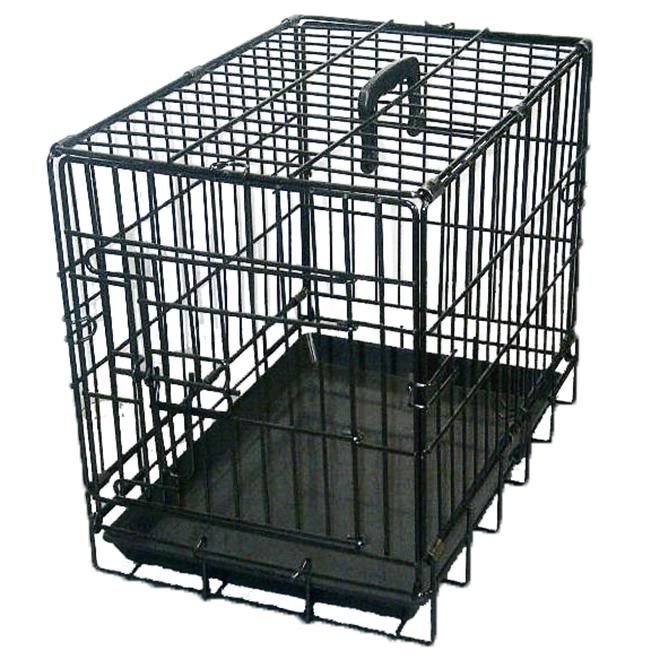 Cage à grillage noir, 24'' x 17'' x 20''