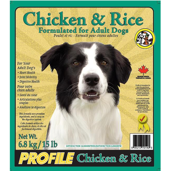 Dog Food - Adult Dogs - Chicken & Rice - 6.8 kg