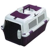 Tuff Crate Deluxe Pet Carrier - Burgundy - 20 x 13 x 12''