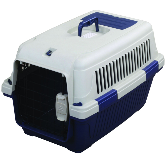 Tuff Crate Deluxe Pet Carrier - Blue - 22'' x 16'' x 14''