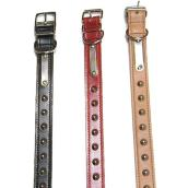 Double Studded Leather Collar Dog - Black - 22''