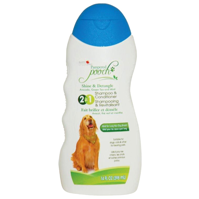 Pampered Pooch Dog Shampoo - Avocado, Green Tea and Mint