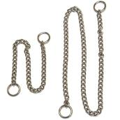Choke Chain Dog Collar - Chrome - 4mm x 65cm
