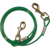Dog Tie-Out Cable - Small and Medium Size Dogs - 10'