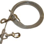 Dog Tie-Out Cable - Large and X-Large Size Dogs - 15'