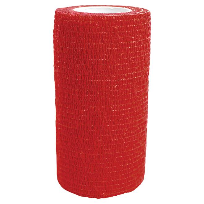 Bandage Wrap - 4'' x 5 yards - Red