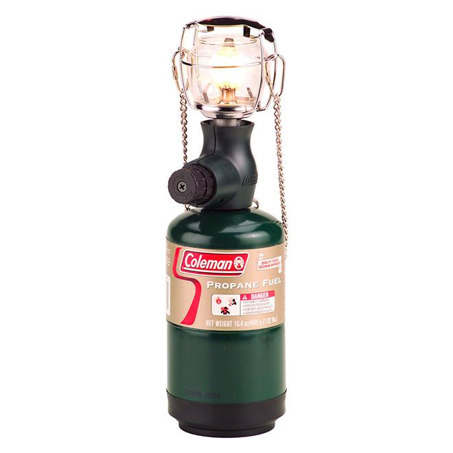 Lanterne au propane compacte, 1 manchon, 300 lumens, 8 m