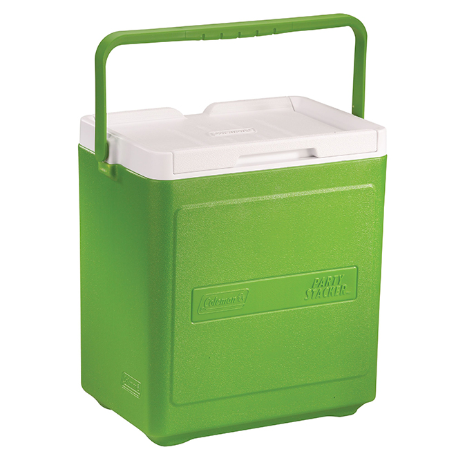 Cooler - Party Stacker - 20 Cans Capacity - 18 Qt - Green