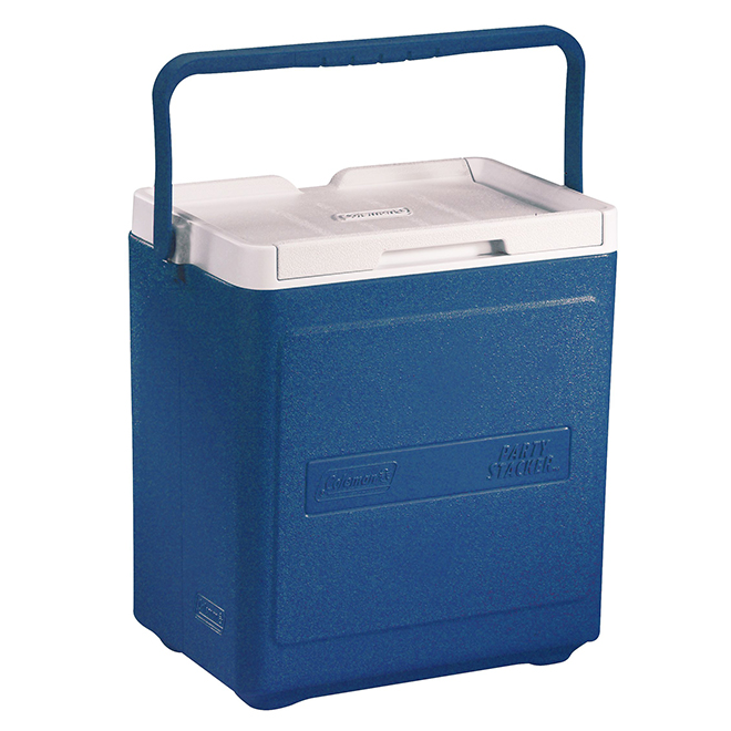 Cooler - Party Stacker - 20 Cans Capacity - 18 Qt - Blue