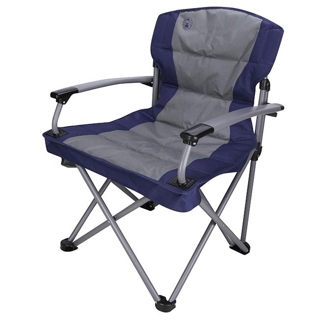Folding Chair - Throne Quad - 25'' x 37'' x 24'' - Blue/Grey