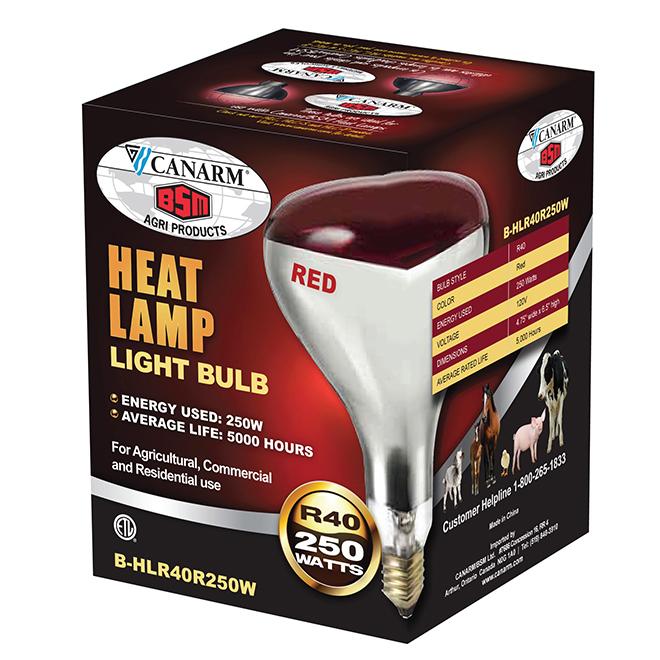 250W Infrared PAR38 Brooder Bulb - Red