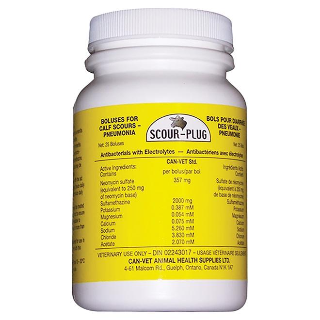 Traitement anti-diarrhée pour veau, Scour-Plug, 25 bolus