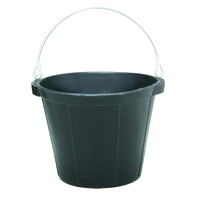 Heavy-Duty Rubber Pail - 9.46 L - Black