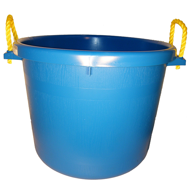 Muck Bucket - Rubber Polymer - 66 L - Blue