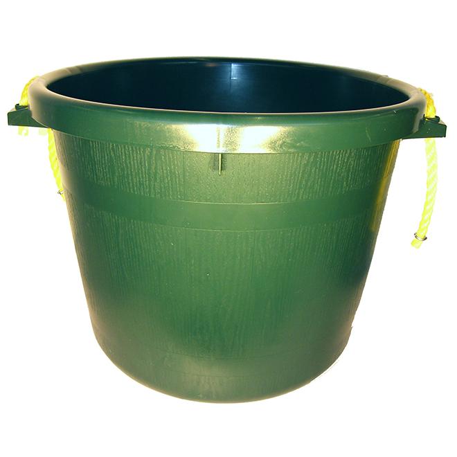 Seau pour gros travaux, polymère de caoutchouc, 66 L, vert