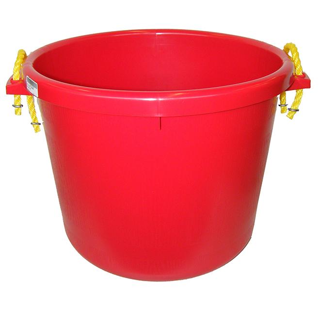 Seau pour gros travaux, polymère de caoutchouc, 66 L, rouge
