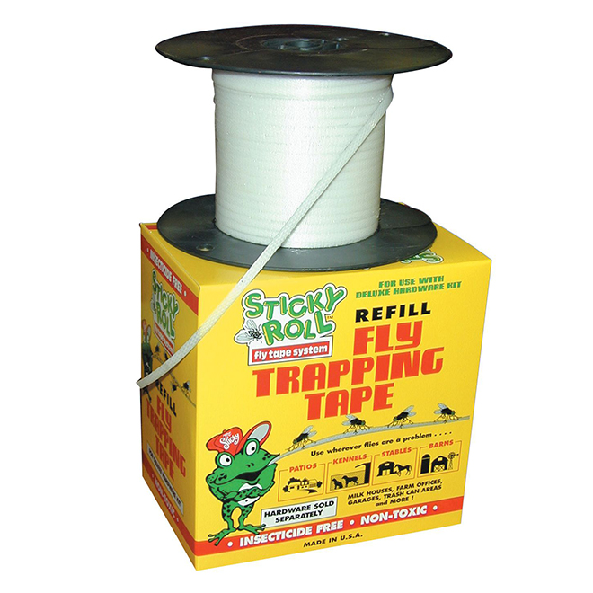 Fly Trap Refill - Mr Sticky Roll Deluxe Fly Tape - 1000'