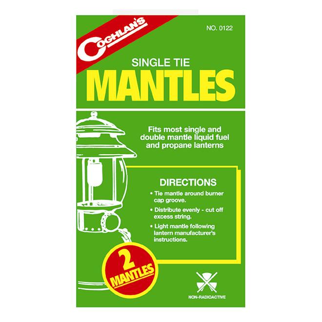 Single Tie Lantern Mantles - 2 Pack