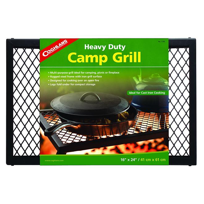 "Heavy-Duty Folding Camping Grill - 16"" x 24"""