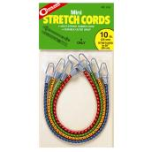 "Mini Stretch Cords - 10"" - Stretches to 20"" - 4 Pack"
