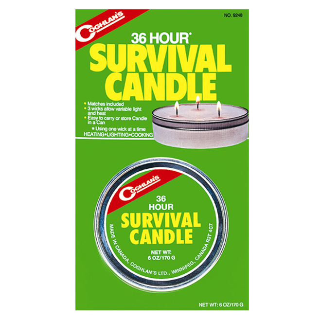 COGHLAN'S Emergency Candle with Matches - Burns 12-36 Hours - 3