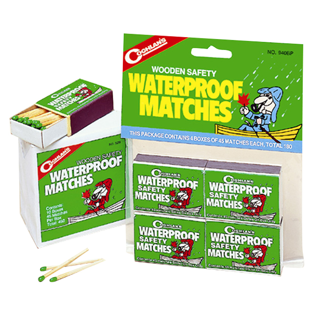 Waterproof Matches - 40 per Box - 4 Boxes