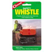 Pealess Safety Whistle with Lanyard - Orange/Black