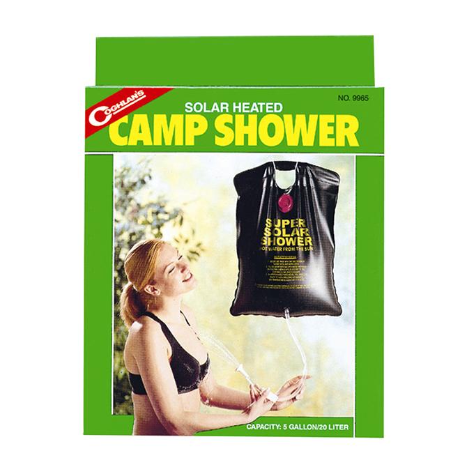Douche de camping à chauffage solaire, 3-4 douches, 20 L