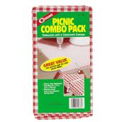 "Vinyl Tablecloth and Clamps Pack - 54"" x 72"" - 7 Pieces"