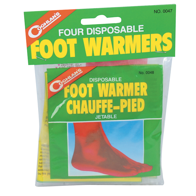 Chauffe-pieds jetables, paquet de 4