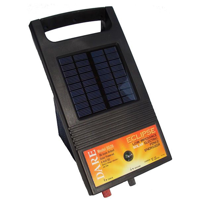Solar Electric Fence Charger - Eclipse - 4.8 km Range - 6 V