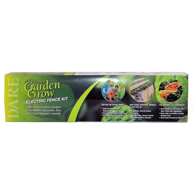 Trousse de clôture électrique pour jardin Garden Grow