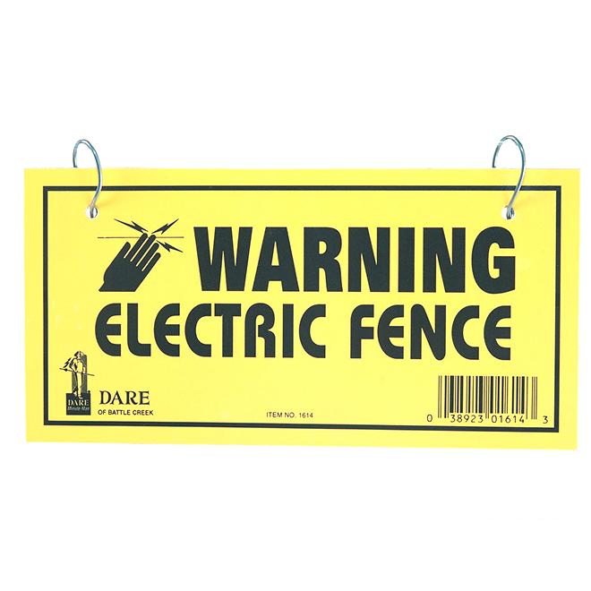 """Panneaux d'avertissement clôture électrique, 2 côtés, 4""""x 8"""""""
