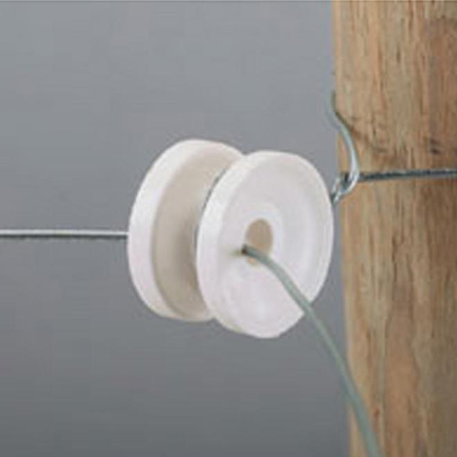 Isolateurs de coin de clôture électrique, blancs, pqt de 10