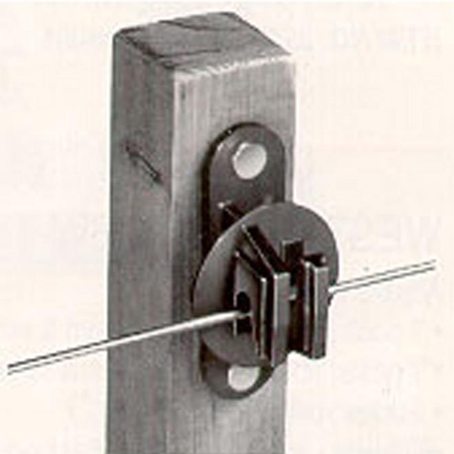Snug Electric Fence Insulators - Wood Post - Black - 25/Pk
