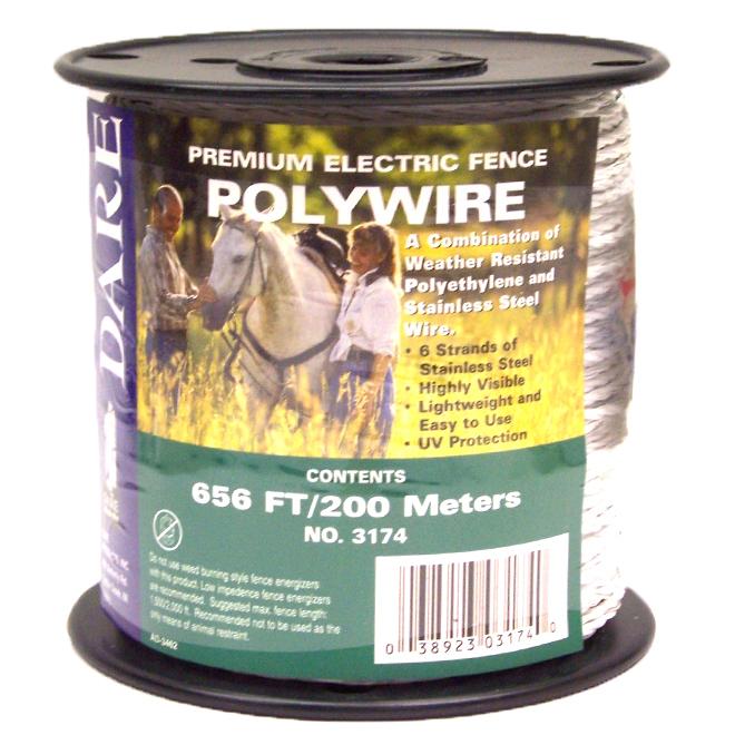 Fil de polyéthylène robuste, 6 brins en inox, 656'
