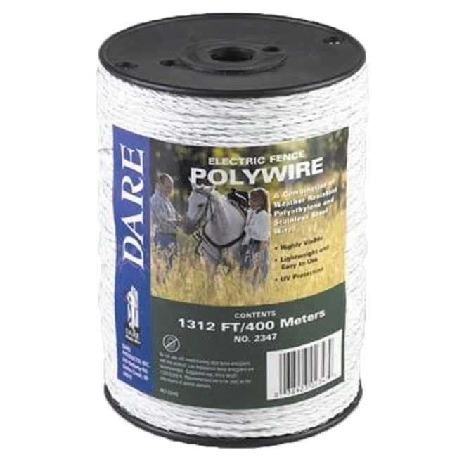 Heavy-Duty Polywire - 6 Strands Stainless Steel Wire - 1312'