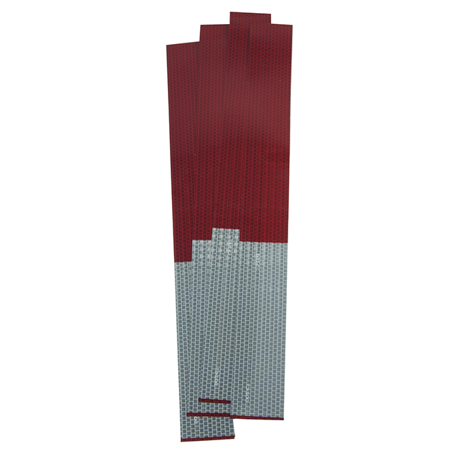 Reflective Tape - 2'' x 18'' - Red/Silver - 5-Pack
