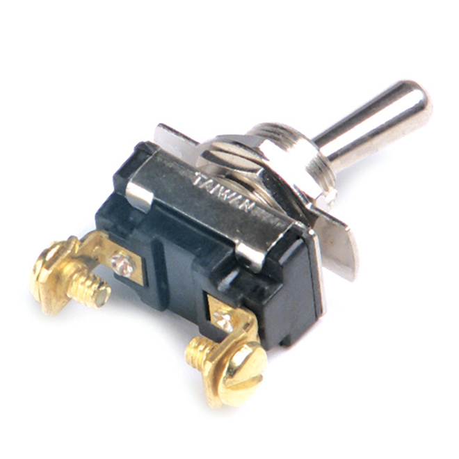 Toggle Switch - 15A - 12V - 3/8'' x 15/32''