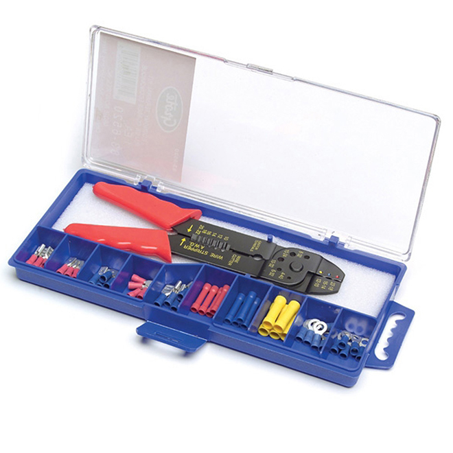 Terminal Kit with Crimping Tool - 51 Pieces