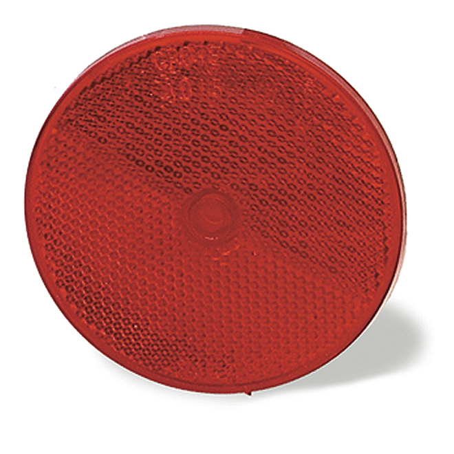 Sealed Center Mount Reflector - 3 1/4'' - Red