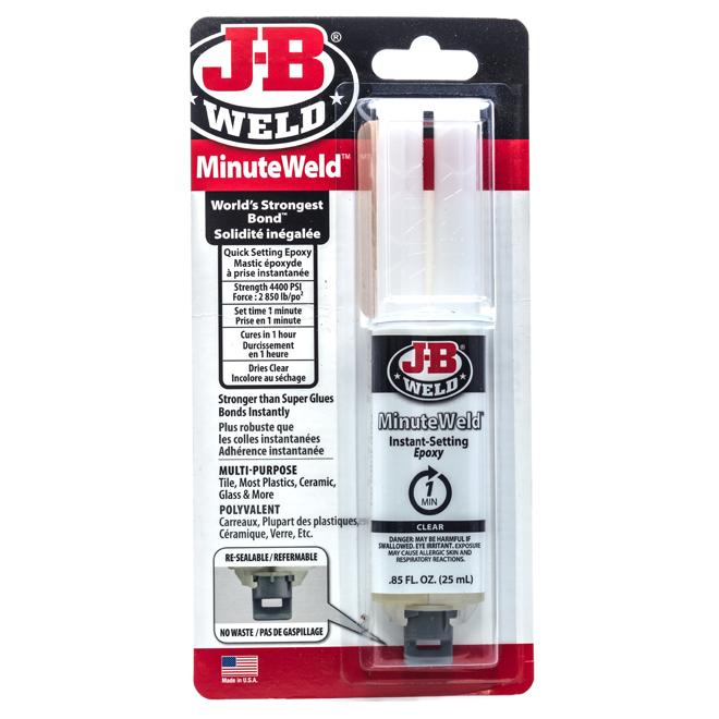 Colle minute avec seringue à époxy, 25 ml