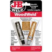 Colle adhésive à époxy «WoodWeld», 1 oz, brun pâle